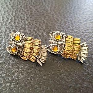 Park Lane owl earrings